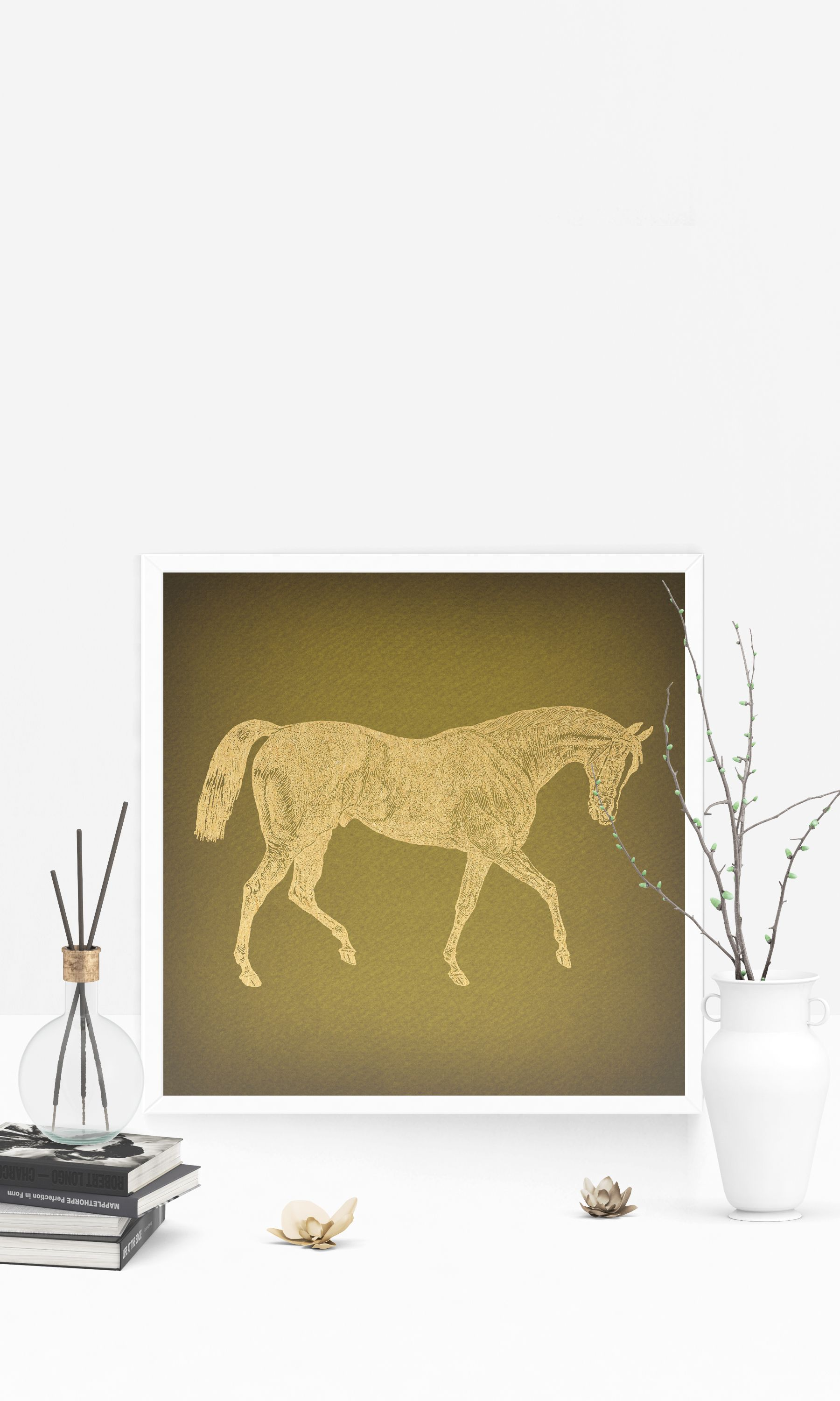 Classic Vintage Horse Wall Art for Farm Home Style Decoration