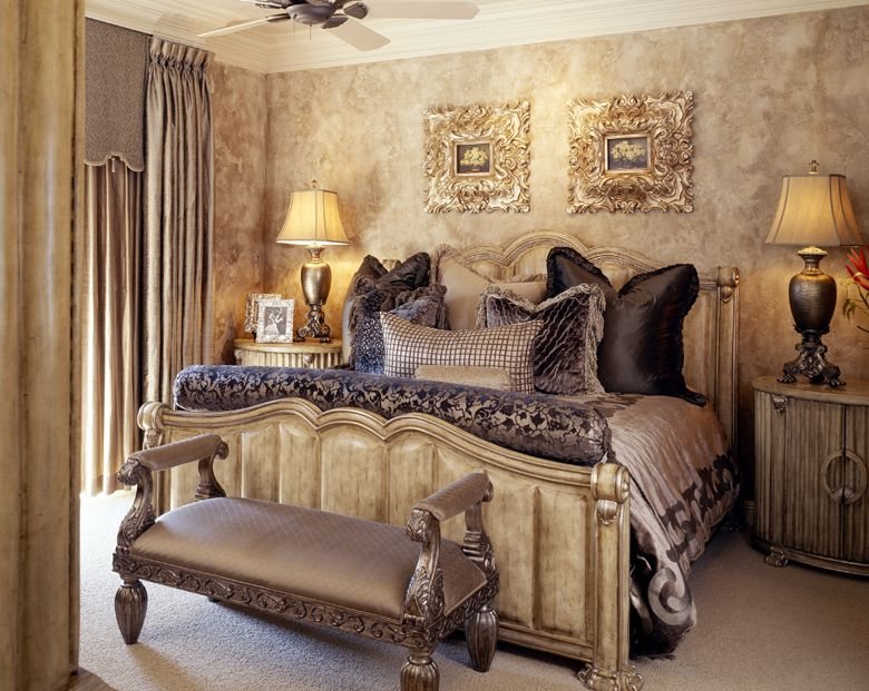 Interior design old world for Bedroom wall images