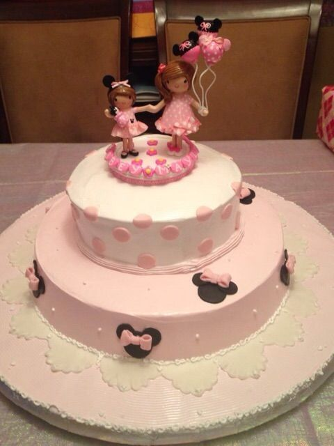 Big Sister Little Sister Minnie Mouse Birthday Party Cake Topper