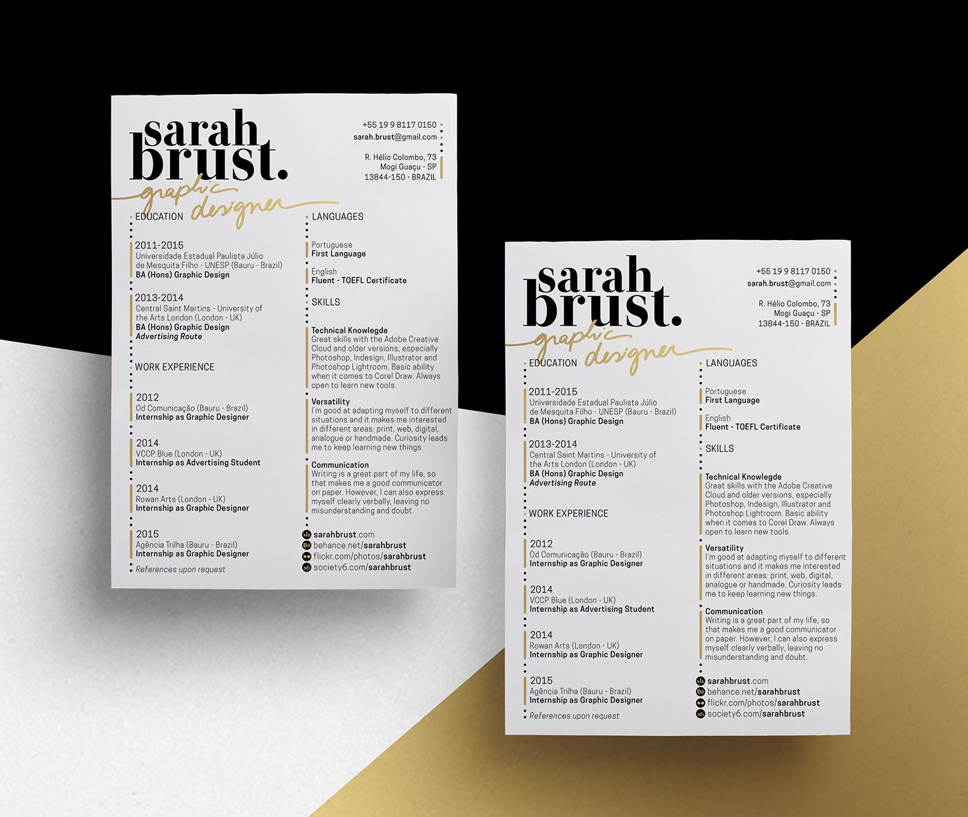 11 Resume Designs With Slick Personal Branding Personal Branding