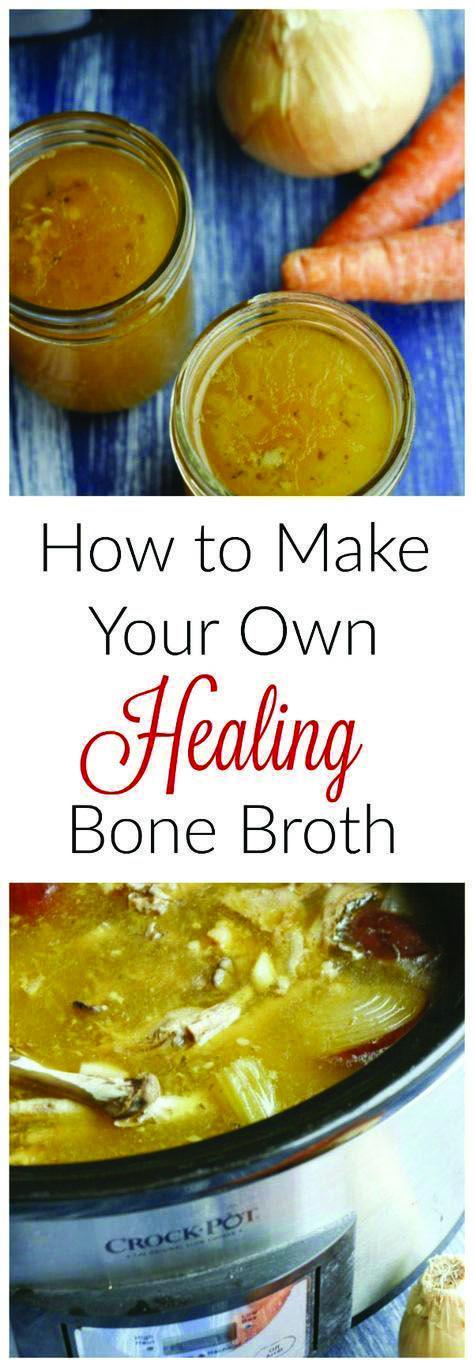 "Slow Cooker ""Better Than Botox"" Bone Broth #bonebrothrecipe"