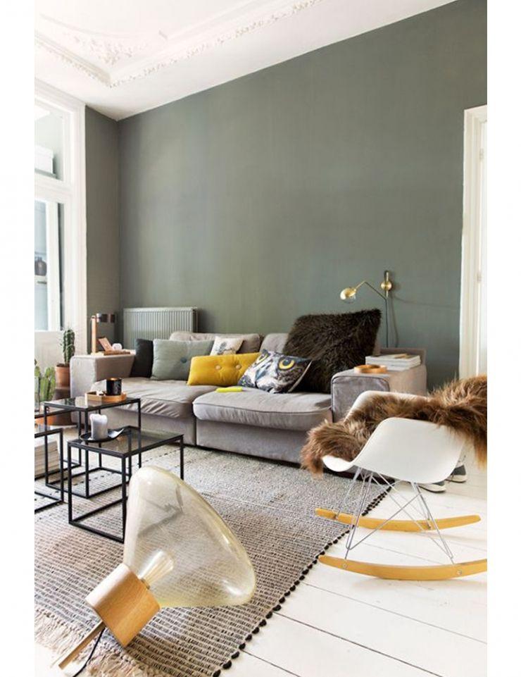 10x vergrijsde groentinten wall Idies Living Room, Room, House