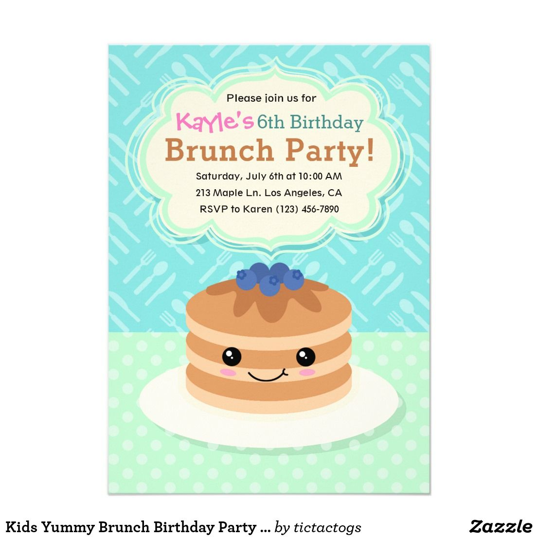 kids birthday party invitations