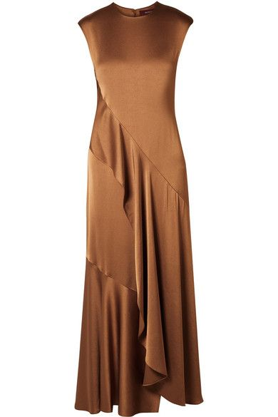Sies Marjan – Zariah draped satin-crepe maxi dress