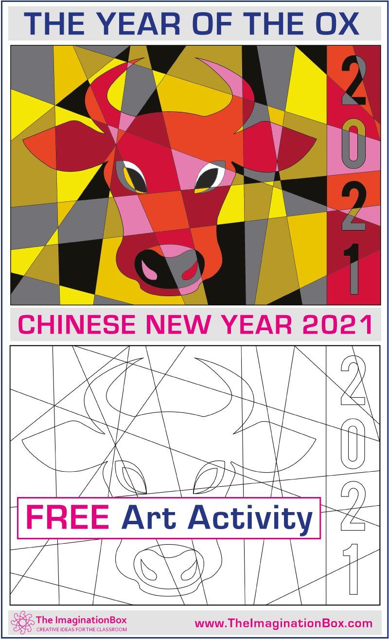 Chinese New Year Activities 2021 Free Ox Coloring Pages Art Activities New Year Art Chinese New Year Activities