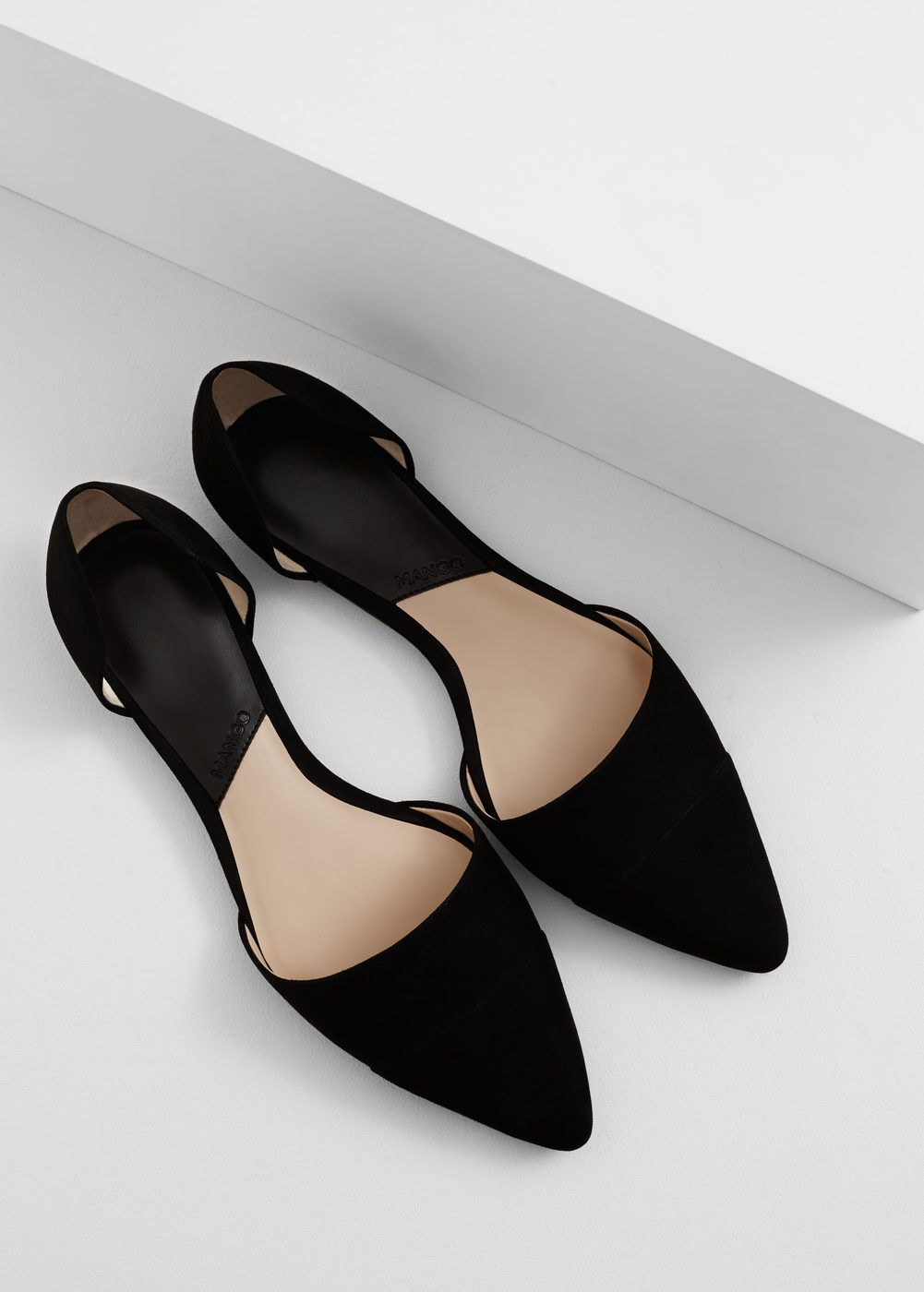Zapato plano punta Mujer   Zapatos planos, Zapatos negros