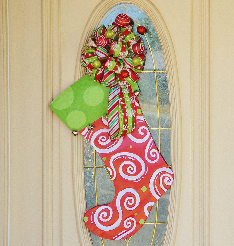 Large Christmas Bells Decorations Christmas Stocking Door Hangerdouble Door Christmas Decoration