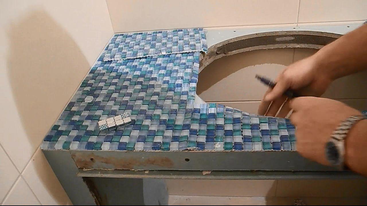 Делаем столешницу из мозаики под умывальник ч.3 | Плитка ...
