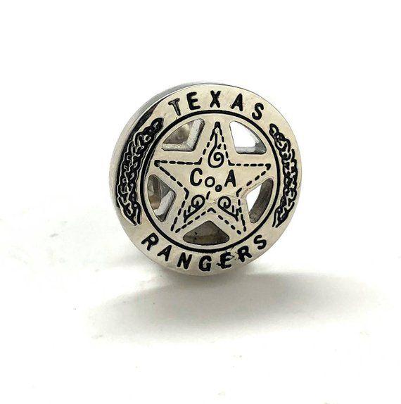 2e33edc9114f Enamel Pin Texas Ranger Lapel Pin Collector Old West Silver Tone Lone Star  Badge Lone Ranger Tie Tac