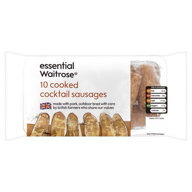 Cooked Cocktail Sausages 10 per pack essential Waitrose at Ocado #JacobsCreek #PerfectPicnic