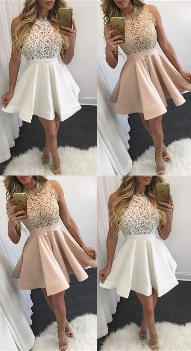Short A Line Homecoming Party Dresses Chic Short Prom Dresses Simple Fashion Semi Formal Dresses Banquet Dresses Homecoming Dresses Winter Ball Dresses [ 1216 x 663 Pixel ]
