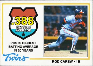 When Topps Had Base Balls Highlights Of The 1970 S Rod Carew Flirts With 4 Rod Carew Twins Minnesota Twins