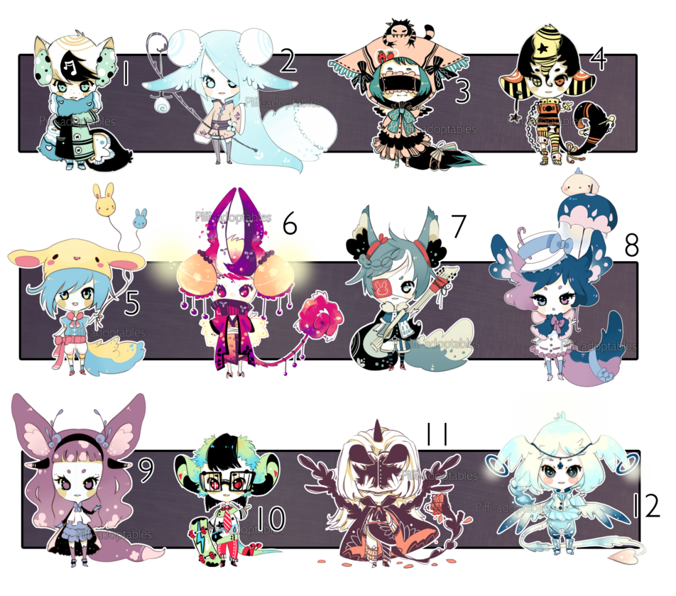 [CLOSED] ADOPT 24 - Multiple adopt by Piffi-adoptables on ...
