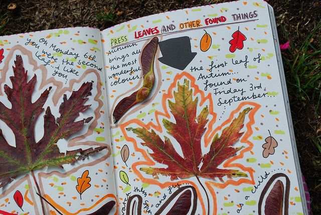 jinqle: whiletheleavesfall: quality-autumn: not mine.. autumn babe. this is so creative omg