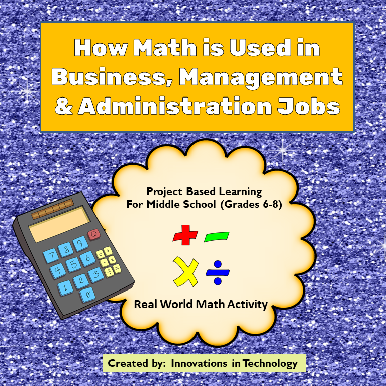 Real World Math - How Math is Used in Business, Management & Admin. Careers #mathintherealworld