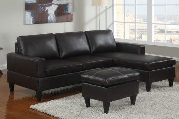 The Sausalito Espresso Leather Small Sectional Sofa Set By Urban Cali Is The Perfect Size Small Sectional Sofa Small Space Sectional Sofa Sectional Sofa Couch