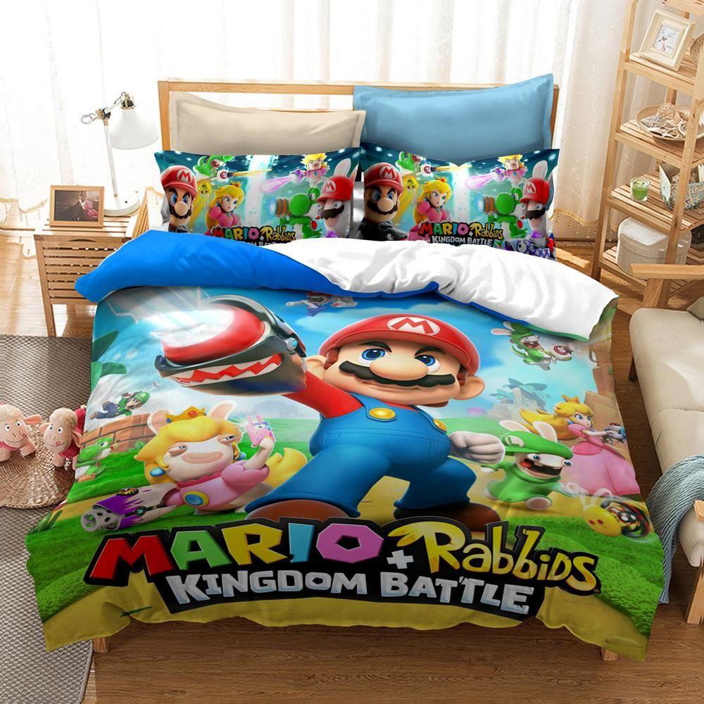 Super Mario Kingdom Battle Housse De Couette Parure De Lit Ensemble De Literie Pour Cadeau En 2020 Ensembles De Literie Parure De Lit Housse De Couette