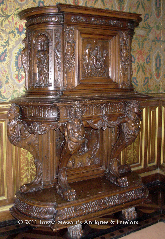 Francois I Period Antique Renaissance Raised Cabinet