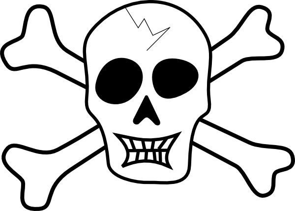 Pirate Ship Coloring Pages Printable Pirate Skull And Bones Clip Art Vector Clip Art Online Royalty Free Pirate Symbols Skull And Crossbones Free Clip Art