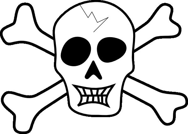 pirate ship coloring pages printable pirate skull and bones clip rh pinterest co uk skeleton bones clipart bone clip art free