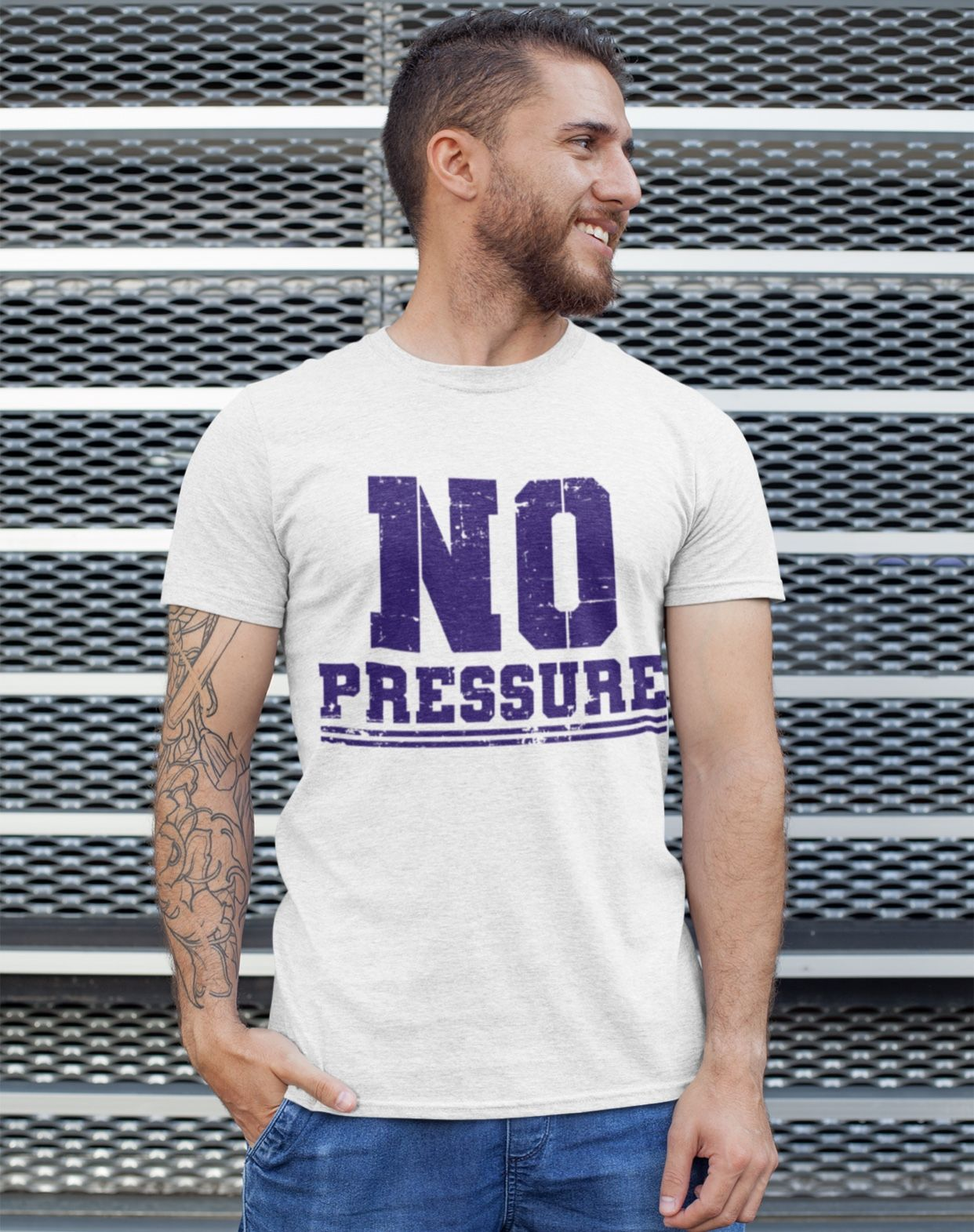 : Must Have No Pressure  No sweat, sarcasm tshirt. Cool gym workout tee. Casual daily wear or work attire to show you not forcing it. and that you are fierce, fearless & driven. Nice training shirt for a sports athlete, police officer, military, navy or army cadet.