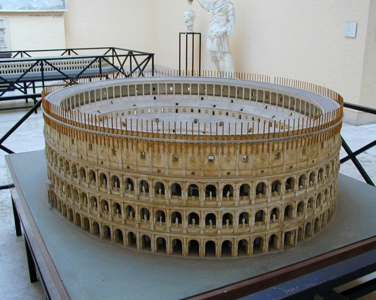Model Of The Colosseum By Italo Gismondi, Who Also Made