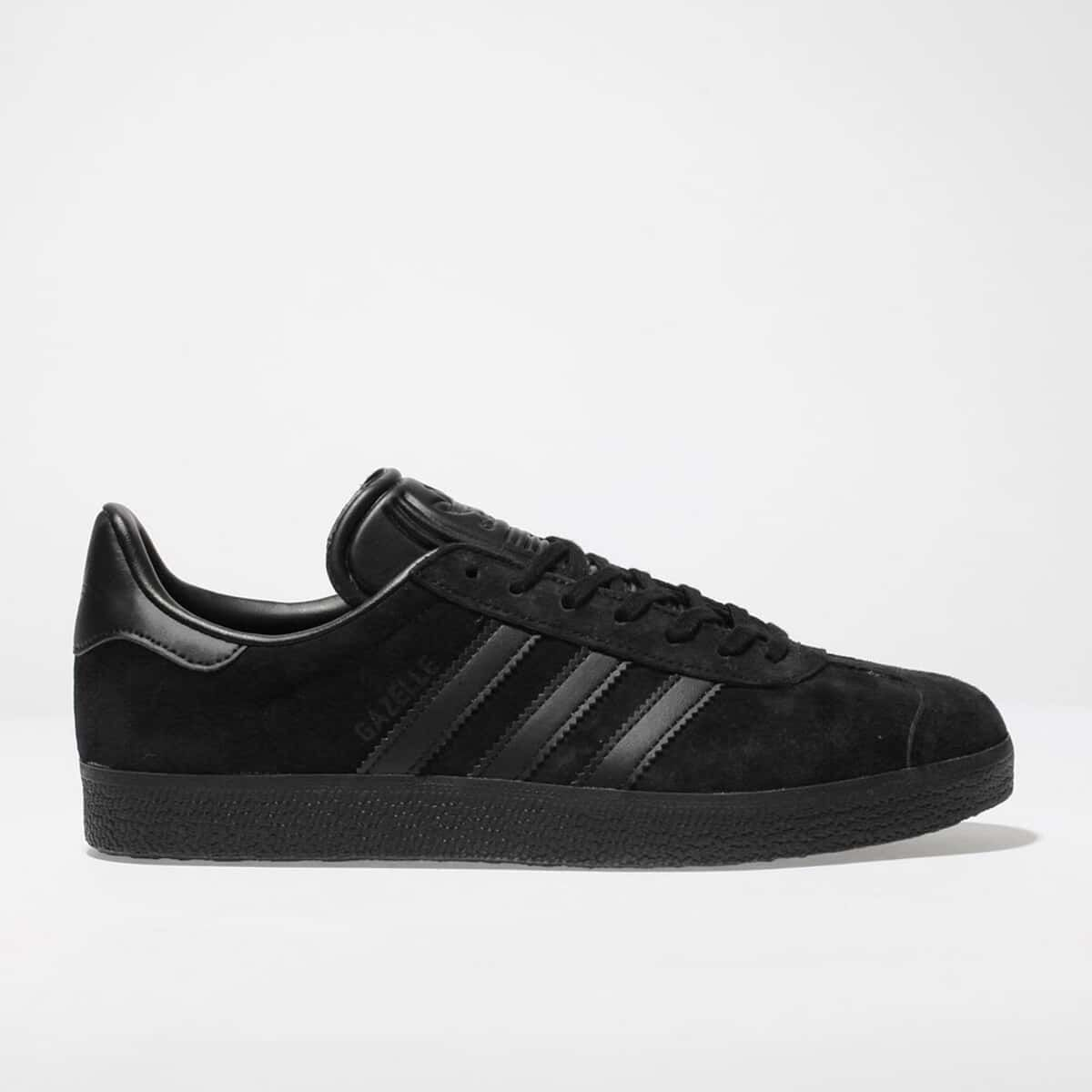 full black adidas trainers