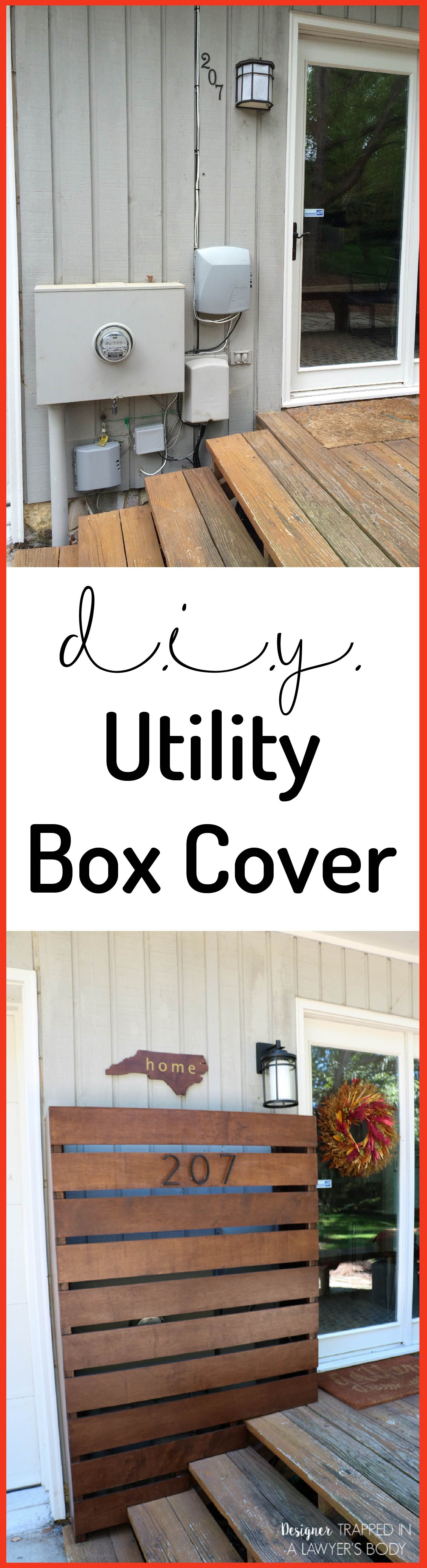 Brilliant Idea To Cover Ugly Utility Bo Learn How Make A Diy Box With This Awesome Tutorial By Designer Tred In Lawyer S Body