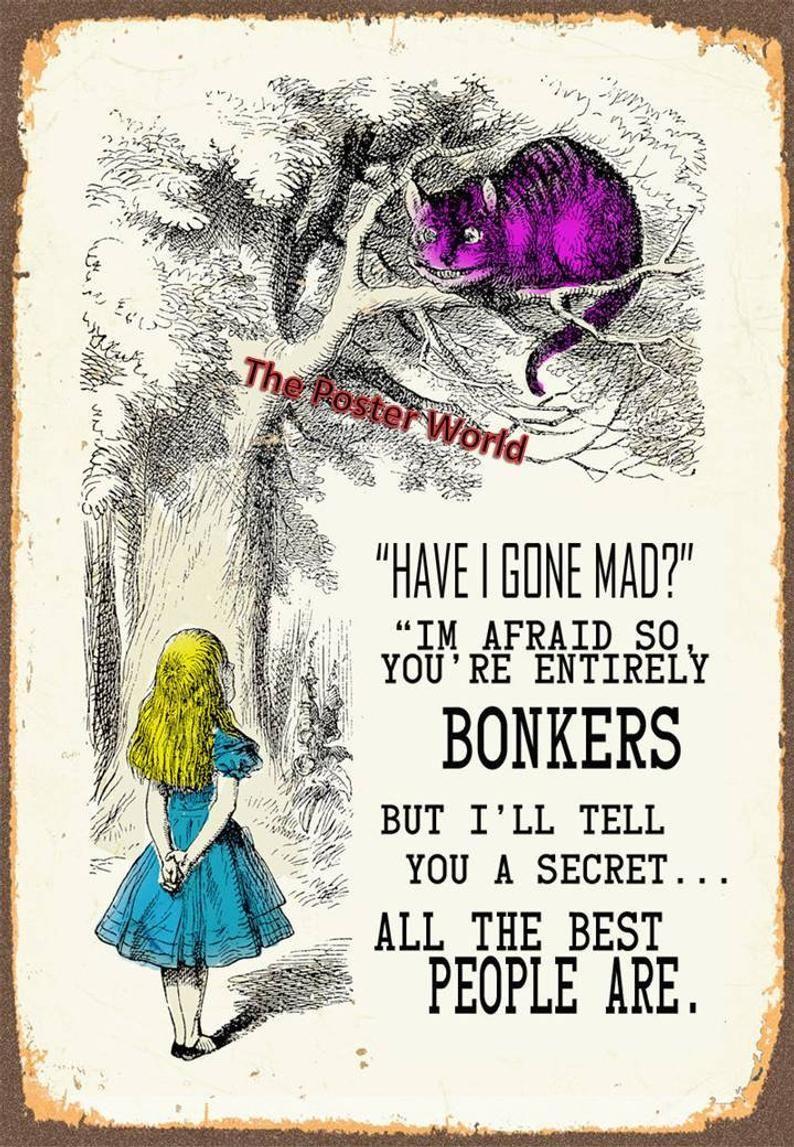 Set of 5 Alice In Wonderland  Vintage Art Print Pictures   Etsy