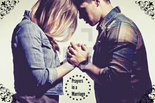 Prayer in Marriage - praying aloud together with your spouse.