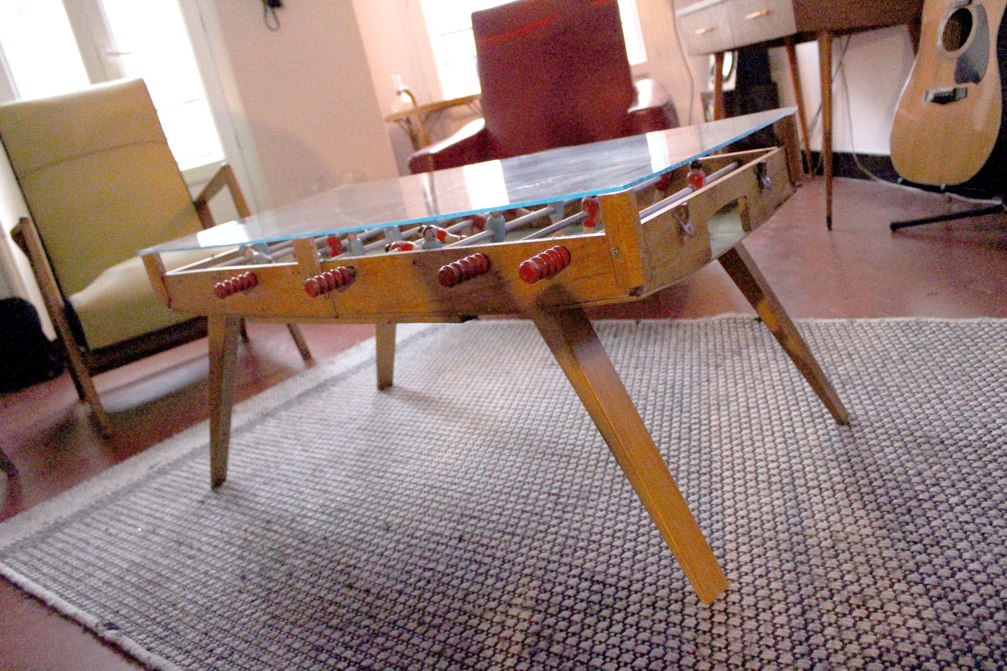 Baby Foot De Salon babyfoot ancien transformé en table basse | table basse