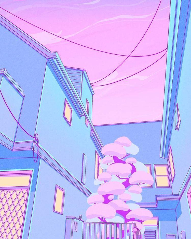 vaporwave portada #vaporwave #pastel #aesthetic ...