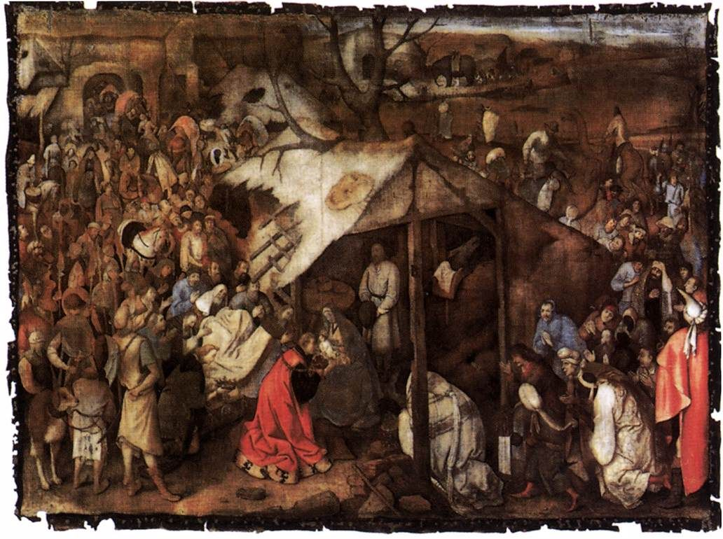 The Adoration of the Kings, 1556-Pieter Bruegel the Elder - by style - Northern Renaissance
