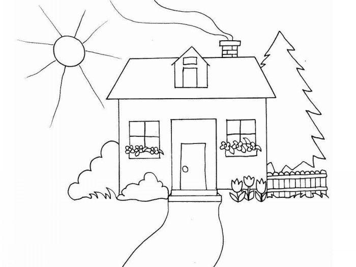Dibujos para Colorear Casas 7 | Dibujos para colorear para niños ...