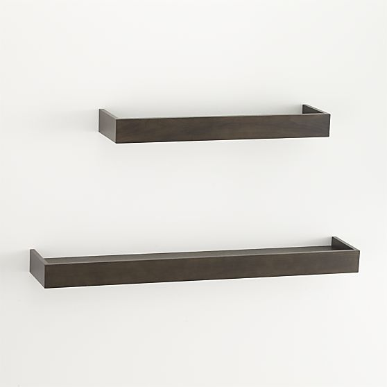 Archetype 24 Brown Ledge Display Shelves Crate And Barrel Crates
