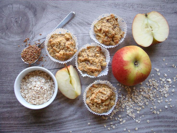 BLW Frühstücksideen für´s Baby | Apfel-Haferflocken Muffins