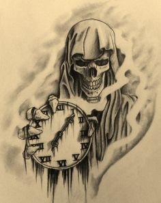 Grimm reaper, holding time. I'd get this with him holding an old pocket watch