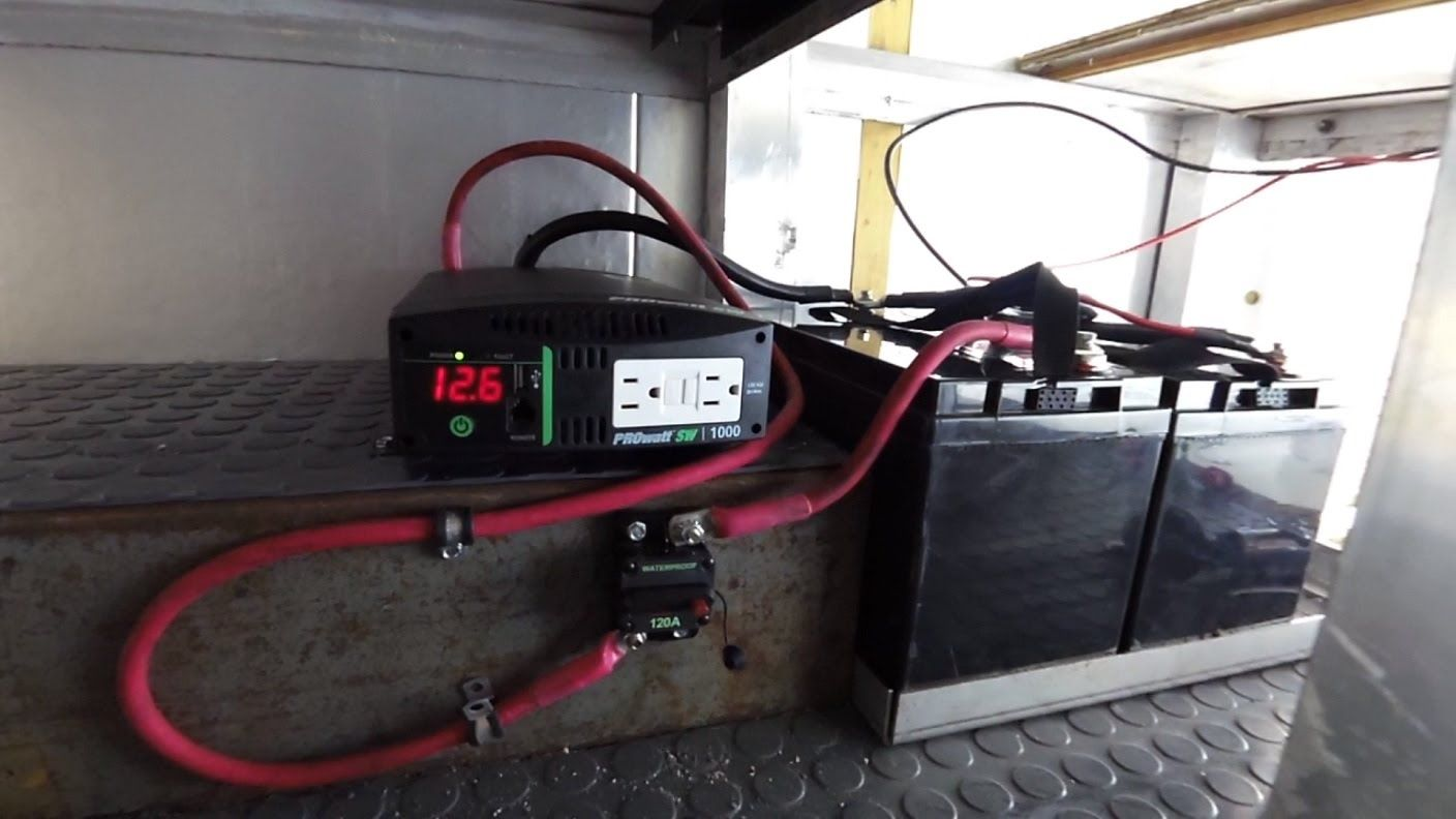 Box Camper Van Inverter And Rv Battery Install Electrical 35 Motorhome Shore Power Wiring