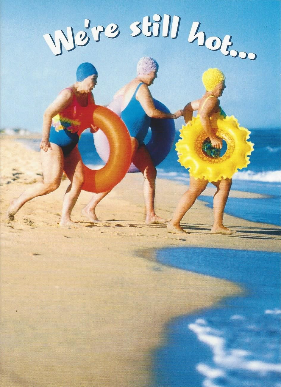 Old Women At Beach Birthday Card Modern Provisions Funny Cards