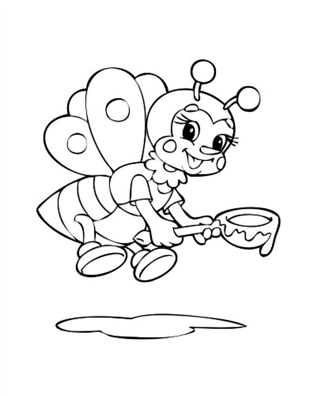 Bumble-Bee-Coloring-Book-Page-For-Kids corner