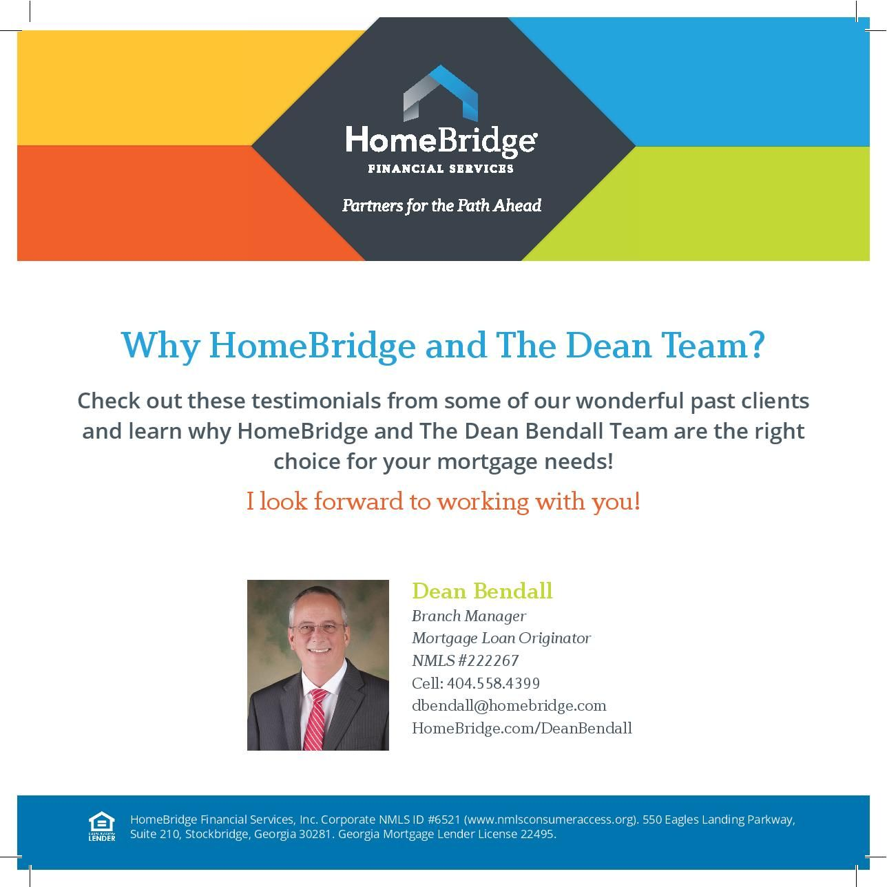 Dean Bendall, Mortgage Loan Originator, NMLS #222267