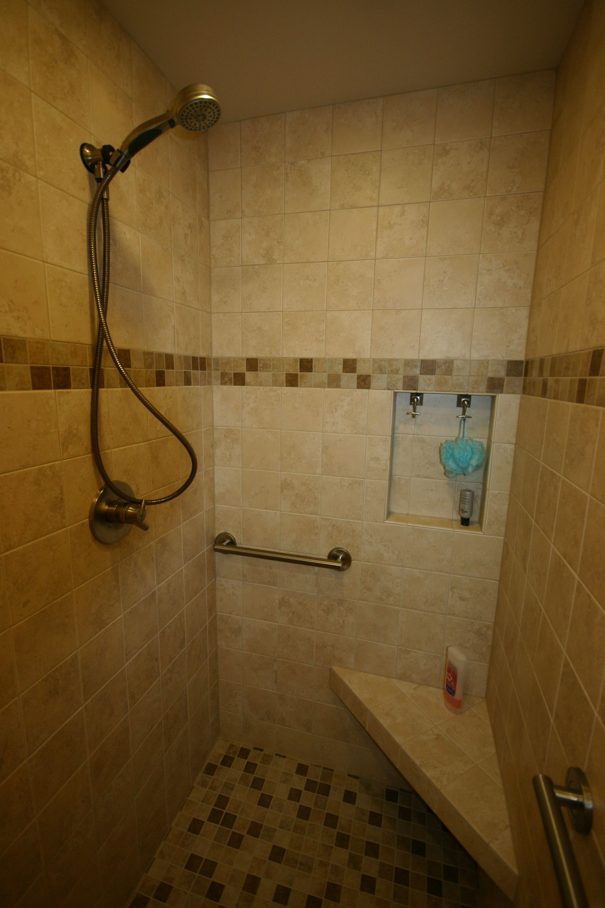 Doorless Walk In Shower Shampoo Box Niche