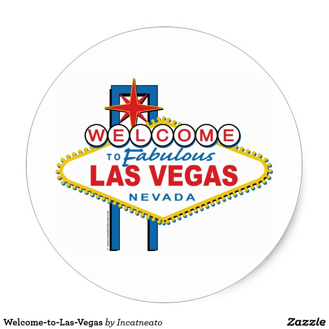 Welcome-to-Las-Vegas Classic Round Sticker | Round stickers