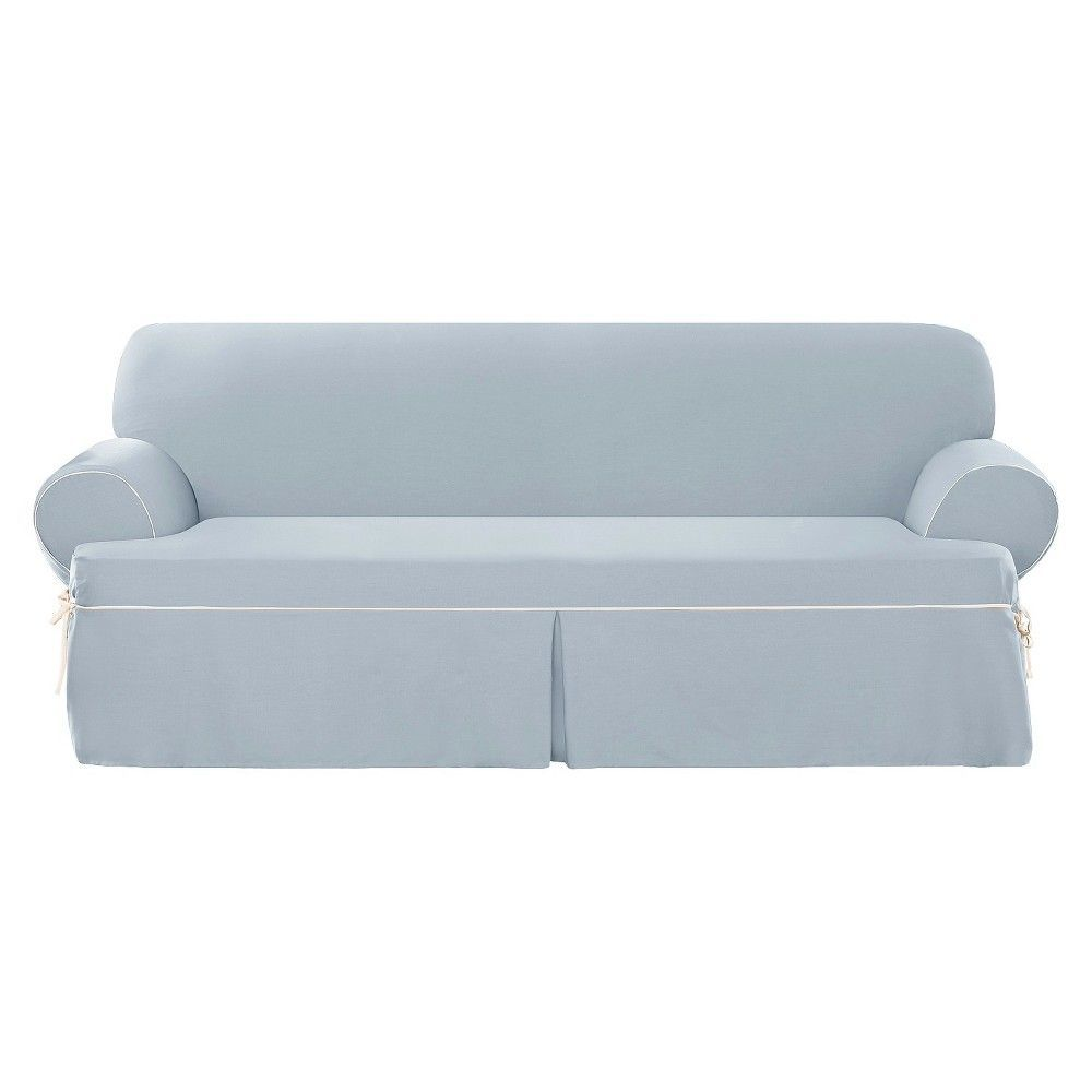 Sure fit corded canvas tsofa slipcover blue products