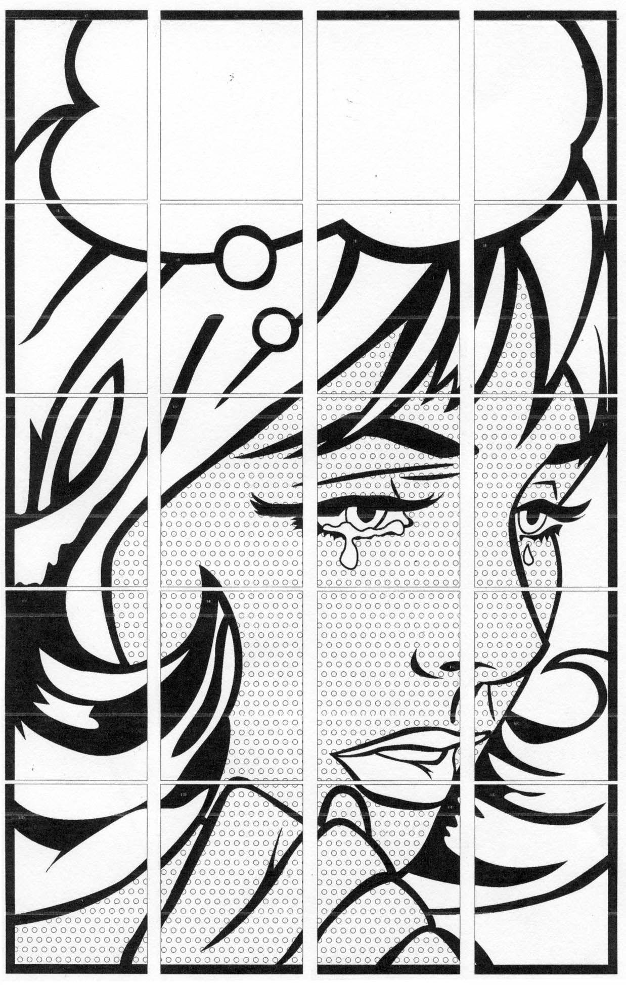 Comic Book Pop Art Mural