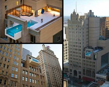 Hanging Pool In Dallas Texas Joule Hotel Is A 5 Star 129 Room