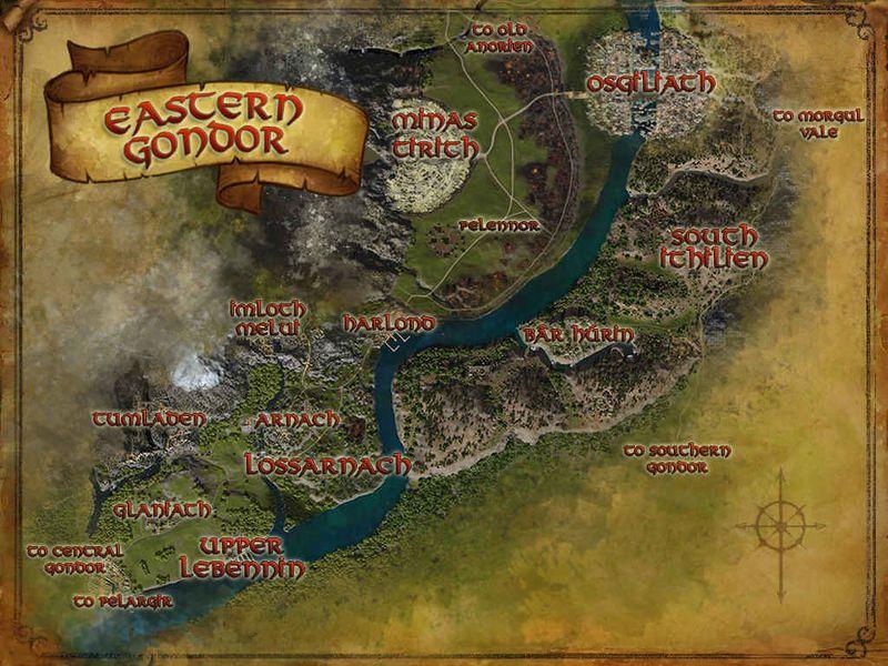 LOTR Eastern Gondor map Eastern Gondor