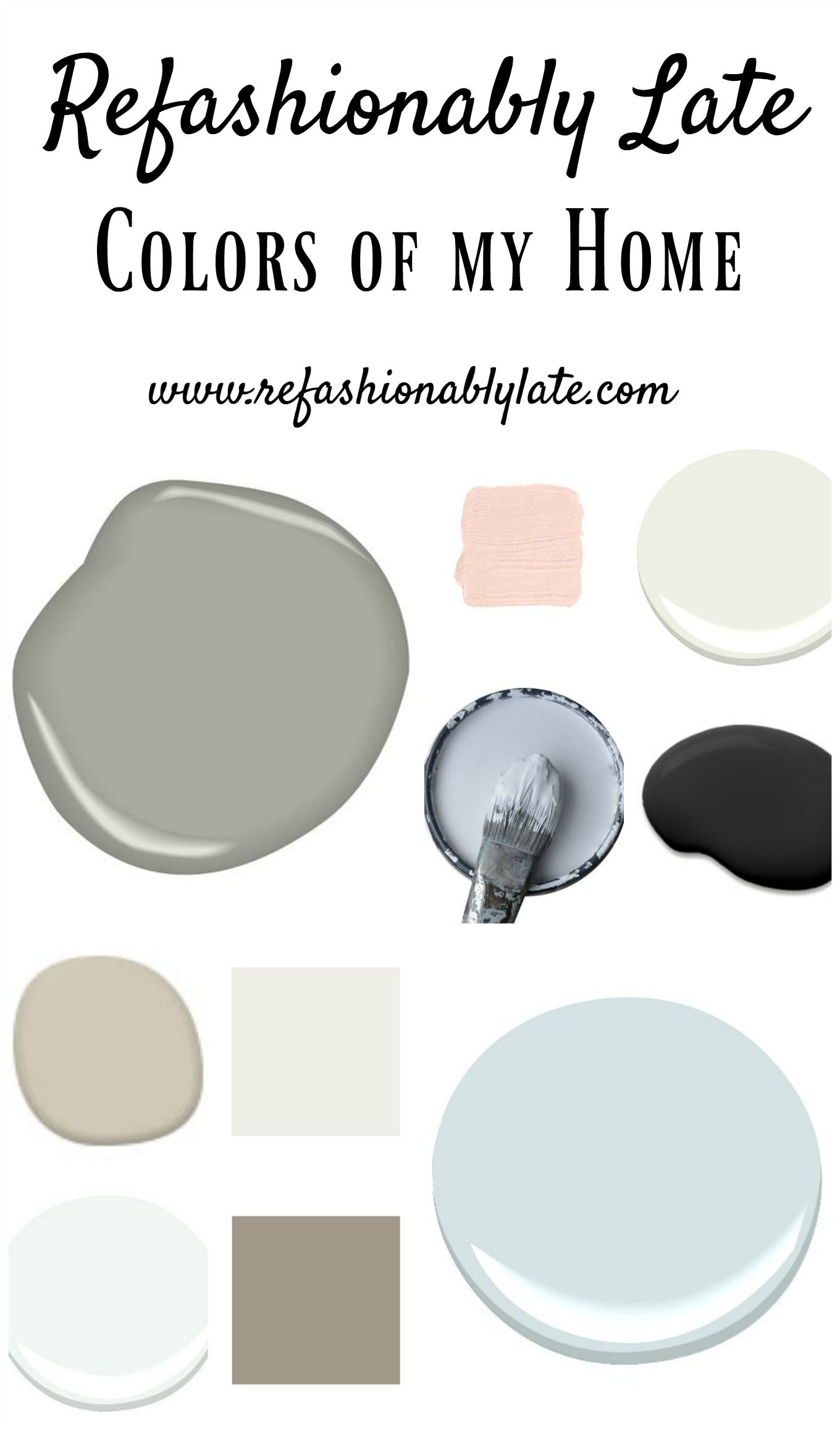 Colors of My Home: My Favorite Paint Colors www.refashionablylate.com