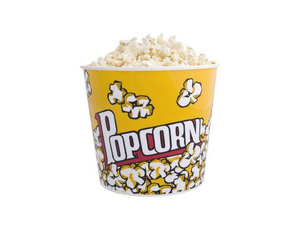 Bol palomitas Pop corn de polipropilen. Capacidad para 2,8 litros.