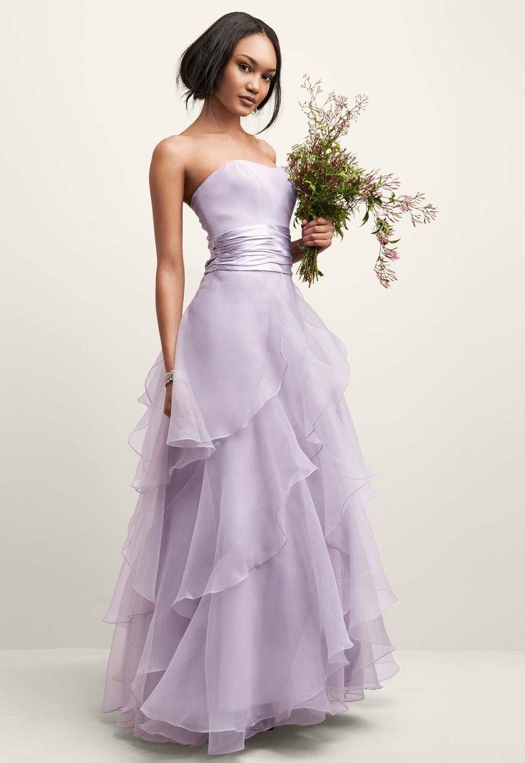 Chic Ruffles And Frills Purple Wedding Dress Colored Wedding Dresses Summer Wedding Dress